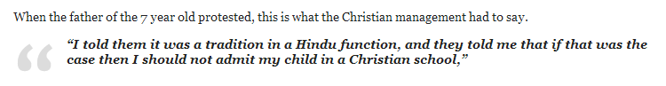 Hindu Children Discriminated