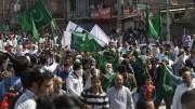 Hurriyat rally Pakistan flags