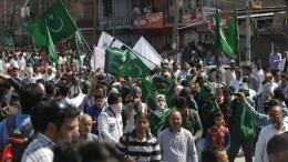 Hurriyat rally Pakistan flags