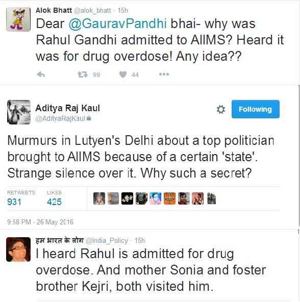 Rahul Gandhi Drug Overdose